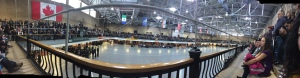 Panoramic shot of the  Minto Armouries ahead of the Remembrance Day ceremonies.